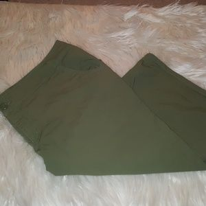Lane Bryant olive green capris. Never worn.  22
